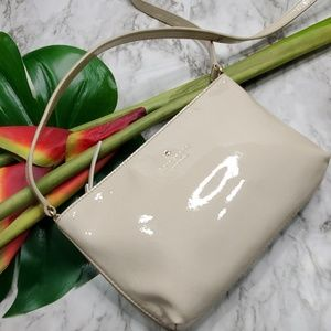 Kate Spade Cream Patent Leather Purse Shoulder Bag